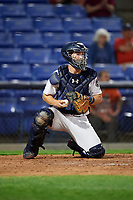 Binghamton Rumble Ponies catcher Patrick Mazeika (11) during a game against the Erie SeaWolves on May 14, 2018 at NYSEG Stadium in Binghamton, New York.  Binghamton defeated Erie 6-5.  (Mike Janes/Four Seam Images)