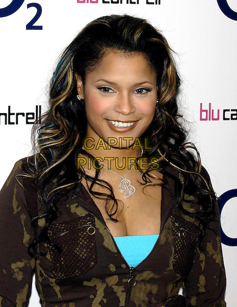 "BLU CANTRELL.launch of ""O2 Music"" digital music player.and music download service..18/11/2003.initial necklace.sales@capitalpictures.com.www.capitalpictures.com.©Capital Pictures"