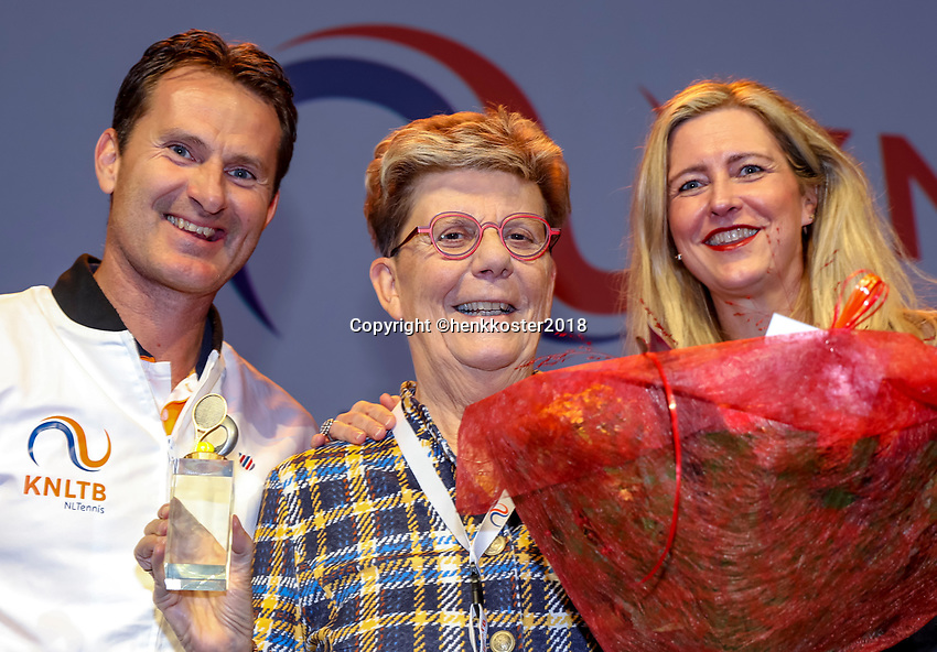 Nieuwegein,  Netherlands, 9 November 2018, Coaches congress KNLTB, Coach hall of fame<br /> Photo: Tennisimages.com/Henk Koster