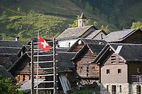 Dandrio, Val Malvaglia, Ticino, Switzerland, september 2015.