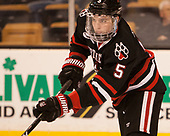 Ryan Shea (NU - 5) - The Harvard University Crimson defeated the Northeastern University Huskies 4-3 in the opening game of the 2017 Beanpot on Monday, February 6, 2017, at TD Garden in Boston, Massachusetts.