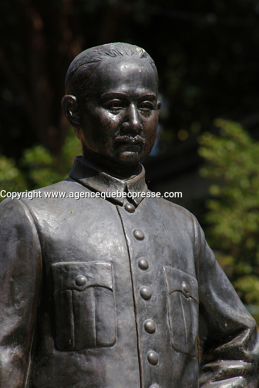 Dr Sun Yat-sen statue<br />  in  Pattaya, Thailand<br /> <br /> Dr Sun Yat-sen (1866-1925) was an intellectual, who provided the ideological basis for the revolutionary movements against the then Manchu dynasty government of China
