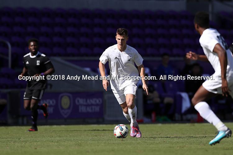 Orlando, Florida - Monday January 15, 2018: Gordon Wild. Match Day 2 of the 2018 adidas MLS Player Combine was held Orlando City Stadium.