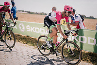 Taylor Phinney (USA/Education First-Drapac) on pav&eacute; sector #3<br /> <br /> Stage 9: Arras Citadelle &gt; Roubaix (154km)<br /> <br /> 105th Tour de France 2018<br /> &copy;kramon