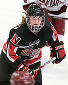 Alyssa Wohlfeiler (NU - 8) - The Harvard University Crimson defeated the Northeastern University Huskies 1-0 to win the 2010 Beanpot on Tuesday, February 9, 2010, at the Bright Hockey Center in Cambridge, Massachusetts.