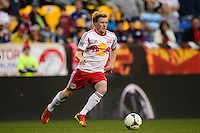 Dax McCarty (11) of the New York Red Bulls. The New York Red Bulls defeated FC Dallas 1-0 during a Major League Soccer (MLS) match at Red Bull Arena in Harrison, NJ, on September 22, 2013.