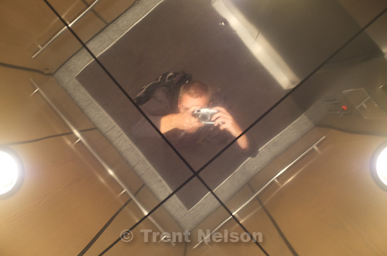 Trent Nelson in mirror