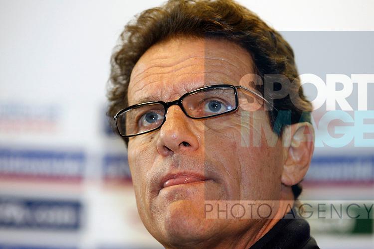 England's Fabio Capello during his press conference