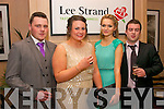 Enjoying the annual Lee Strand social last Saturday night in the Ballygarry House hotel, Tralee were l-r: Brian Daly, Nora Denee, Fiona Griffin and John Lyons