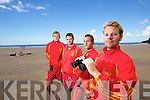 Lifegaurds at Ballybunion beach from left: Michael O'Sullivan, Lisselton, Luke Brennan, Ballybunion, Diarmuid Kiely, Ballybunion and Michael Brassil, Ballyduff.