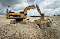 Excavating a 20 million gallon irrigation reservoir in chalk - July, Norfolk