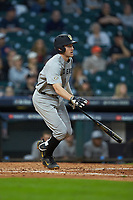 Connor Kaiser (12) of the Vanderbilt Commodores hustles down the first base line against the Louisiana Ragin' Cajuns in game five of the 2018 Shriners Hospitals for Children College Classic at Minute Maid Park on March 3, 2018 in Houston, Texas.  The Ragin' Cajuns defeated the Commodores 3-0.  (Brian Westerholt/Four Seam Images)