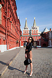 RUSSIA, Moscow. Model Gene Saratovskaya in the Red Square.