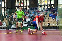 Amr Shabana (EGY) vs. James Willstrop (ENG) in the second round of the 2014 METROsquash Windy City Open held at the University Club of Chicago in Chicago, IL on February 28, 2014