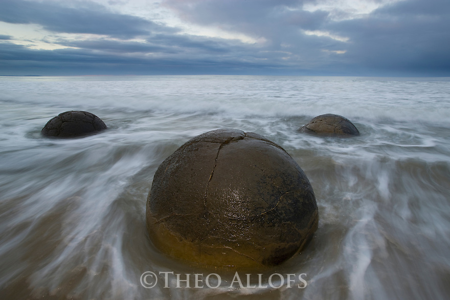 Moeraki Boulders at dawn, South Island, New Zealand