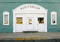 Auditorium in Ray, North Dakota.