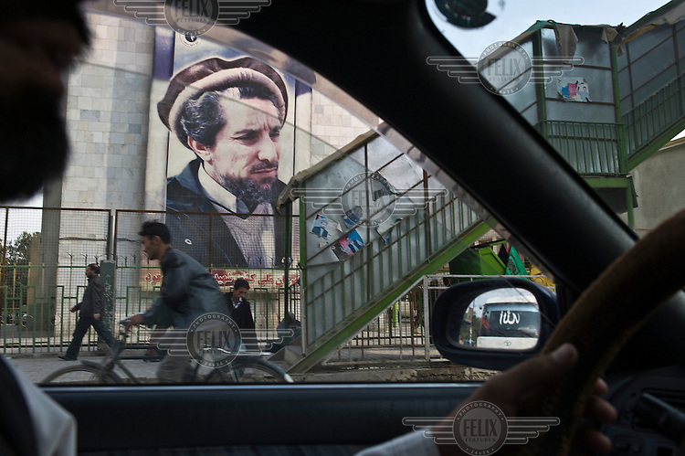Portait of Ahmad Shah Massoud (The Lion of Panjshir), who was assassinated in 2002.