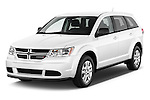 2015 Dodge Journey American Value Package 5 Door SUV Angular Front stock photos of front three quarter view