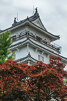 Shimabara Castle was originally built at the dawn of the Edo Period (1600-1868). The five-story main keep with its gleaming white walls was supposed to serve as a symbol of the shogun's authority in the region.