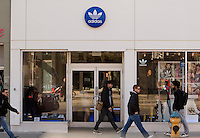 An Adidas store is pictured in Toronto April 19, 2010.
