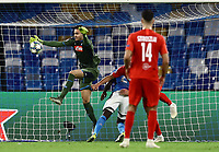 5th November 2019; Stadio San Paolo, Naples, Campania, Italy; UEFA Champions League Group Stage Football, Napoli versus Red Bull Salzburg; Alex Meret of Napoli comes out to collect the through ball - Editorial Use