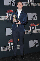 LOS ANGELES, CA, USA - APRIL 13: Will Poulter in the press room at the 2014 MTV Movie Awards held at Nokia Theatre L.A. Live on April 13, 2014 in Los Angeles, California, United States. (Photo by Xavier Collin/Celebrity Monitor)