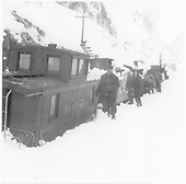 D&amp;RGW snow fighting train, winter 1952.<br /> D&amp;RGW  Animas Canyon, CO  Taken by Norwood, John B. - 2/1952