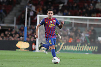 10.04.2012 Bacelona, Spain. La Liga. Picture show Xavi Hernandez in action during match between FC Barcelona against Getafe at Camp Nou