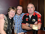 Jacqueline, Keith and Tony Roe pictured at the Console fundraiser in McHugh's. Photo: Colin Bell/pressphotos.ie