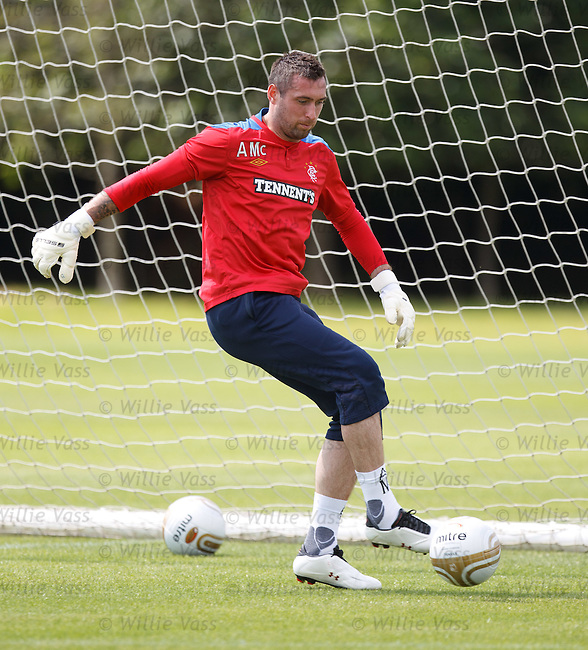 Allan McGregor standing tall in goals after signing his bumper six year contract extension with Rangers