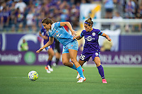Orlando, FL - Saturday July 16, 2016: Sofia Huerta, Samantha Witteman during a regular season National Women's Soccer League (NWSL) match between the Orlando Pride and the Chicago Red Stars at Camping World Stadium.