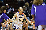 GRAND RAPIDS, MI - MARCH 18: Meredith Doswell (13) of Amherst College is introduced before the Division III Women's Basketball Championship held at Van Noord Arena on March 18, 2017 in Grand Rapids, Michigan. Amherst defeated 52-29 for the national title. (Photo by Brady Kenniston/NCAA Photos via Getty Images)