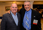 PLANTSVILLE, CT. 30 April 2018-043018BS07 - From left, Joe McGrath, Director of Economic Development in Waterbury and Bill Pizzuto, Director of the UConn's Waterbury campus pose for a photo during the annual Chamber's Business Expo and Health & Wellness Fair at the Aqua Turf on Monday evening. Bill Shettle Republican-American