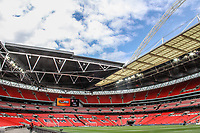 during the Vanarama National League Playoff Final between AFC Fylde & Salford City at Wembley Stadium, London, England on 11 May 2019. Photo by James  Gil.