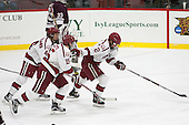 Michael Floodstrand (Harvard - 44), Seb Lloyd (Harvard - 15), Tyler Moy (Harvard - 2) -  - The Harvard University Crimson defeated the visiting Colgate University Raiders 7-4 (EN) on Saturday, February 20, 2016, at Bright-Landry Hockey Center in Boston, Massachusetts.