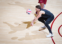 STANFORD, CA - March 14, 2019: Kyle Dagostino at Maples Pavilion. The #8 Stanford Cardinal fell to the #6 Pepperdine Waves 3-0.