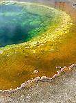 Yellowstone National Park, Wyoming: Morning Glory pool with it's colored thermophiles in the Upper Geyser Basin