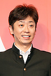 Japanese comedian Terumoto Goto attends a news conference to announce the Japanese telecommunications giant SoftBank's 2017 spring promotions on January 2017, Tokyo, Japan. SoftBank launched a new Super Student mobile plan for young users, and also announced discounts available to their customers through retail partners such as FamilyMart, Sunkus, Baskin Robbins, and Yahoo Japan Shopping. Canadian pop star Justin Bieber, who features in SoftBank's new promotion campaign sent a video message which was screened during the conference. In Japan spring is the season where students start a new school year and graduates begin work. (Photo by Rodrigo Reyes Marin/AFLO)