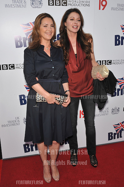 Jane Leeves & Peri Gilpin (right) at the champagne launch party for BritWeek 2010 at the British Consul-General's residence in Los Angeles..April 20, 2010  Los Angeles, CA.Picture: Paul Smith / Featureflash
