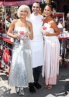 NEW YORK CITY, NY, USA - AUGUST 19: Rita Ora, Dominique Ansel, Chrissy Teigen at the DKNY MYNY fragrance launch celebration held at Madison Square Park on August 19, 2014 in New York City, New York, United States. (Photo by Celebrity Monitor)