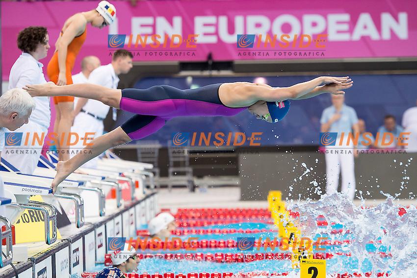 BRAATHEN Ariel NOR<br /> 4x100 mixed medley relay<br /> London, Queen Elizabeth II Olympic Park Pool <br /> LEN 2016 European Aquatics Elite Championships <br /> Swimming day 02  heats<br /> Day 09 17-05-2016<br /> Photo Giorgio Scala/Deepbluemedia/Insidefoto