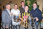 Joe and Ivan Hurley, Killarney, pictured with Eoin Larkin and Martin Commerford, Killkenny, hurling team who were in Killarney for the weekend. Also pictured is Joe Scally, The Royal Hotel. Joe Hurley is originally from Kilkenny..