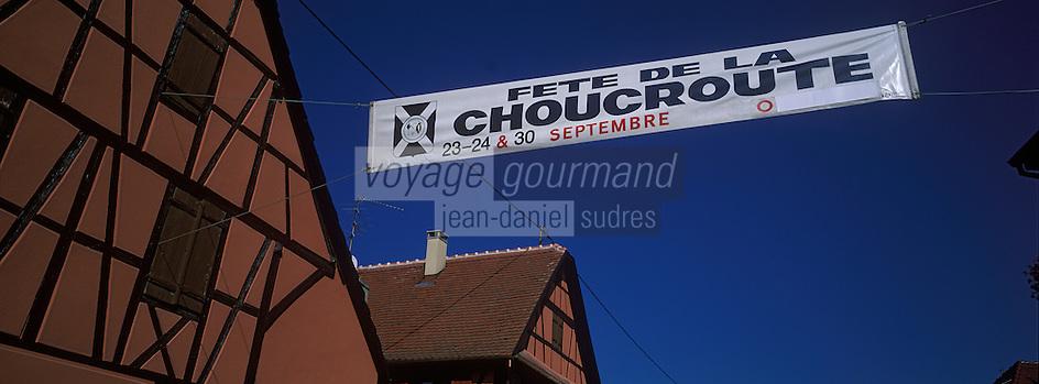 Europe/France/Alsace/67/Bas-Rhin/Krautergersheim : Fête de la choucroute