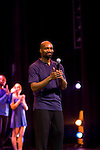 Founder and Artistic Director Ronald K. Brown Thanks the Audience at the 7th Annual Evidence Gala...A Breath of Spring Hosted by Law & Order Actress Tamara Tunie and Jazz Vocalist Gregory Generet Held at The Grand Ballroom at Manhattan Center, NY  4/12/2011