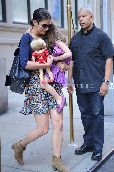 WWW.ACEPIXS.COM . . . . . .August 17, 2011...New York City...Katie Holmes and Suri Cruise leaving their apartment on August 17, 2011 in New York City.....Please byline: KRISTIN CALLAHAN - ACEPIXS.COM.. . . . . . ..Ace Pictures, Inc: ..tel: (212) 243 8787 or (646) 769 0430..e-mail: info@acepixs.com..web: http://www.acepixs.com .