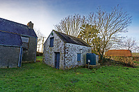Pictured: The pig slaughter house at Trecadwgan farm near Solva. Friday 10 January 2020<br /> Re: Farmers campaigning to save a 14th century farm called Trecadwgan and keep it for a community project in Solva, west Wales, UK.