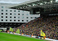 The Swansea City away section at Carrow Road during the Barclays Premier League match between Norwich City and Swansea City played at Carrow Road, Norwich on November 7th 2015