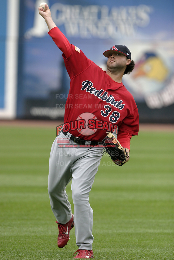 Memphis Redbirds pitcher Andy Cavazos #38 during practice before the Triple-A All-Star Game at Fifth Third Field on July 12, 2006 in Toledo, Ohio.  (Mike Janes/Four Seam Images)