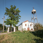 Rural church with metal bell tower, Holy Trinity Orthodox Church, Mlekarovo, Bulgaria