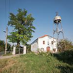 Rural church with metal bell tower, Holy Trinity Orthodox Church, Mlekarovo, Bulgaria